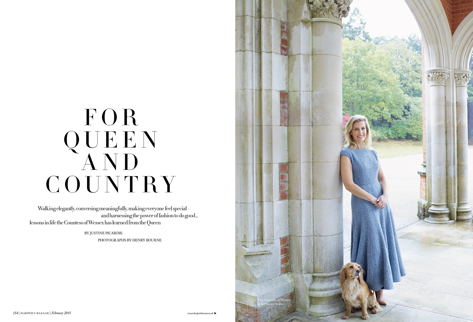 Henry Bourne Photographer The Countess Of Wessex Harper's Bazaar